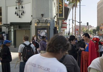 Superman op Hollywood Boulevard