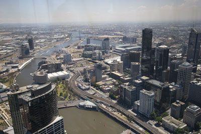 Uitzicht Melbourne vanaf Eurekatoren