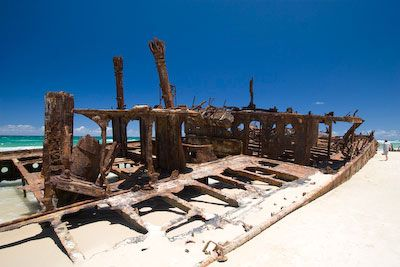 Maheno Wreck op Fraser Island