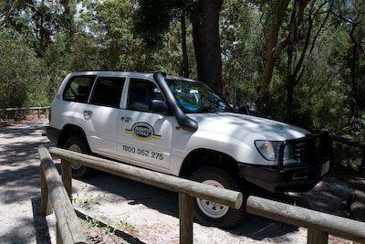 Onze Toyota Land Cruiser op Fraser Island