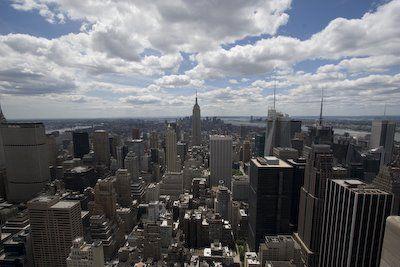 New York skyline vanaf Rockefeller Centre