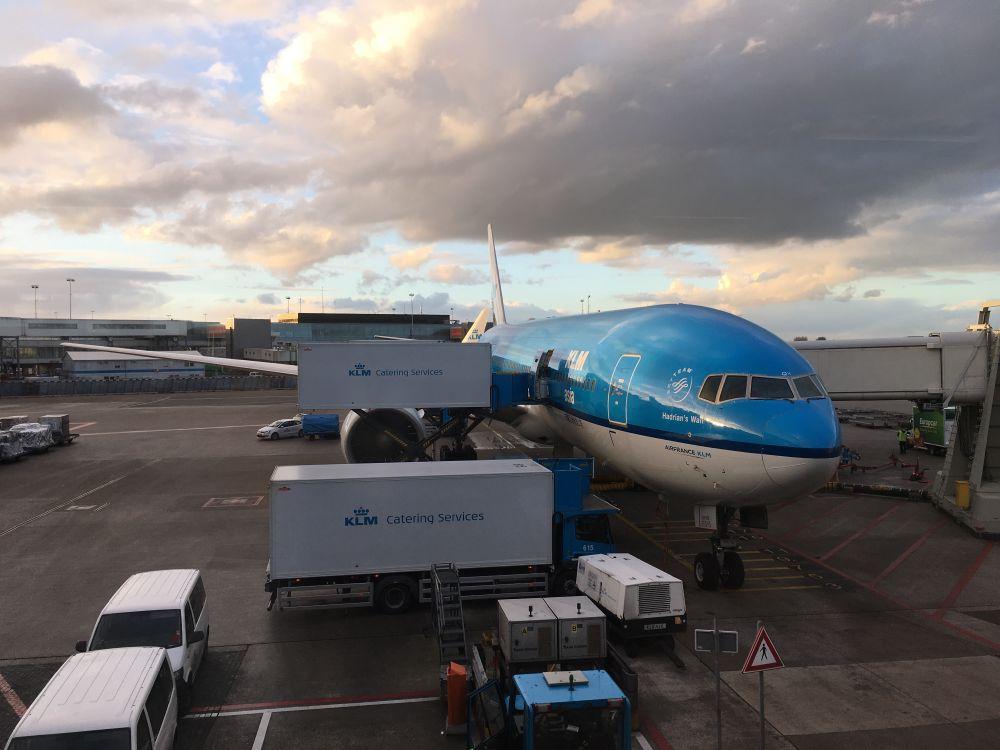 Vliegtuig naar Hong Kong