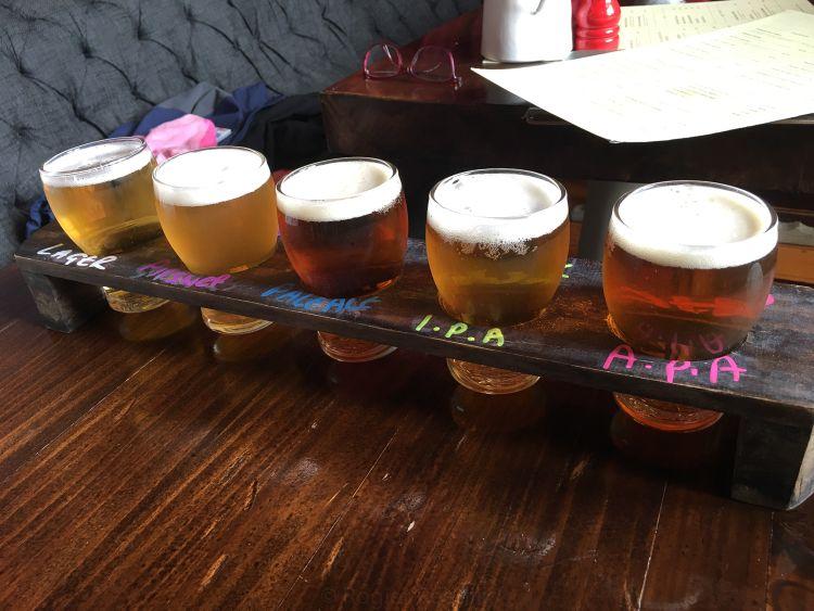 5 soorten bier proeven bij Brew on Quay in Auckland