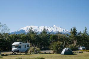 Mt Ruapehu vanaf camping