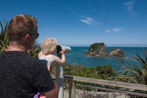Fabienne fotografeert Tauranga Bay