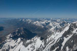 Great divide en Tasman Glacier