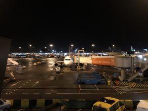 Ons TAP vliegtuig naar Lissabon