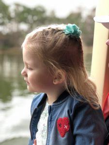 Fabienne op de ferry