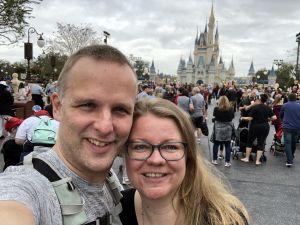 Selfie bij het Disney kasteel