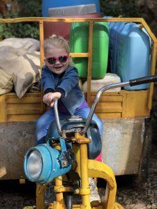 Fabiënne gaat motorrijden