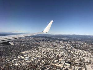 Los Angeles city centre vanuit de lucht