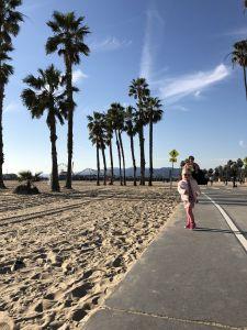 Wandel/fietspad Santa Monica beach