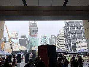 Schuilen in Auckland voor de regen