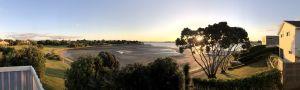 Uitzicht vanuit ons AirBNB huisje