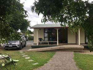 Ons huisje op het Kiwi Holiday Park