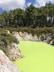 Wai-O-Tapu fel groen water
