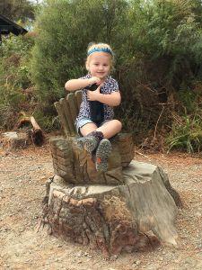 Wai-O-Tapu 'Maori meneer stoel' volgens Fabienne