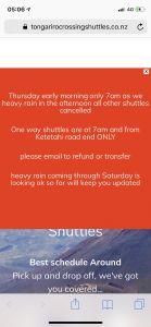 Weerswaarschuwing voor Tongariro Crossing