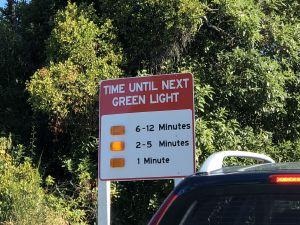 Even wachen voor de wegwerkzaamheden