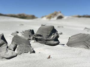 Mooie laagjes zand