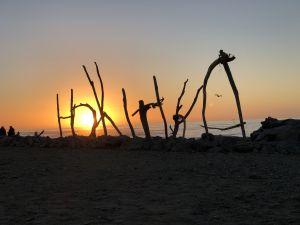 Hokitika beachsign