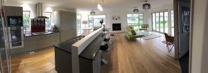Keuken en woonkamer AirBNB in Christchurch