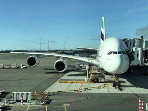 Emirates Airbus A380-800 naar Dubai