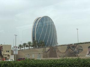 Futuristisch kantoor in Abu Dhabi