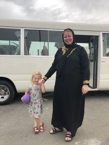 Angelica in een Abaya
