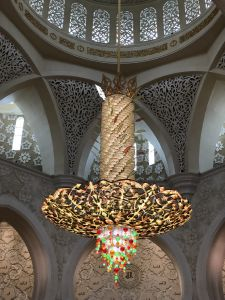 Centrale kroonluchter Grand Mosque