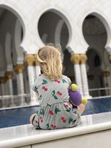 Fabienne bij Grand Mosque